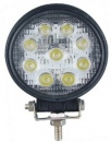 Proiector LED 27W 9 leduri Flood Beam 60gr rotund SLIM