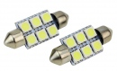 Set led auto 39mm Festoon 5050 6 SMD LED C5W