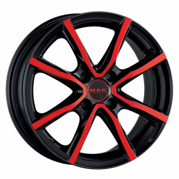 Jante Aliaj MAK MILANO4 BLACK AND RED 6x15 4X100 38ET