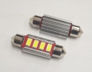 Set led 5630 sofit canbus 39 mm alb 4 smd cu radiator