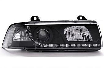 frumos ieftin pret ieftin cel mai bun site web Set Faruri DAYLINE BMW E36 Sedan 91-97 (negru) Proiectoare ...
